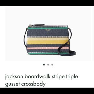 Jackson boardwalk stripe triple gusset crossbody